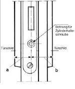 Man erhält sodann ein Maß A und ein Maß B, das bereits die Größen des Profilzylinders entsprechen.