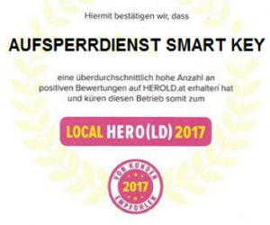 Kundenzufriedenheit: SMARTKEY - Herold Local Hero 2017